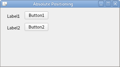 pyqt absolute position python