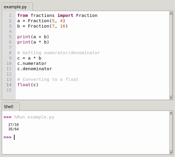 python fractions module