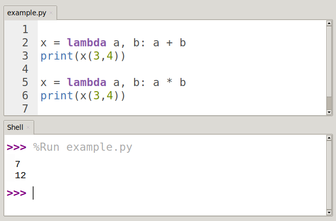 python lambda anonymous function